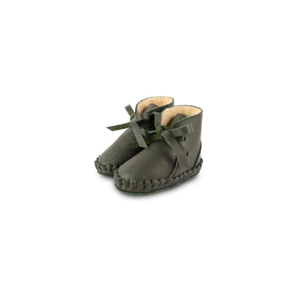 "Babyschuhe ""Pina Lining Olive Leather"""