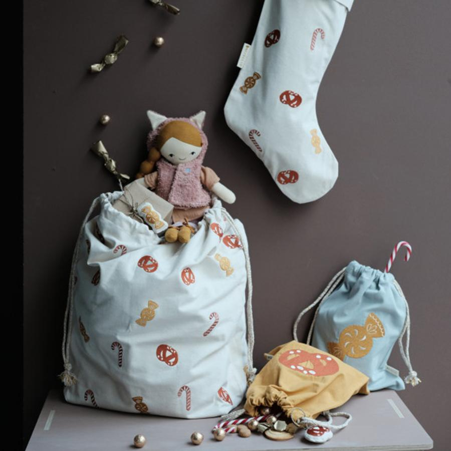"Geschenkbeutel ""Embroidered Candy Light Blue"""