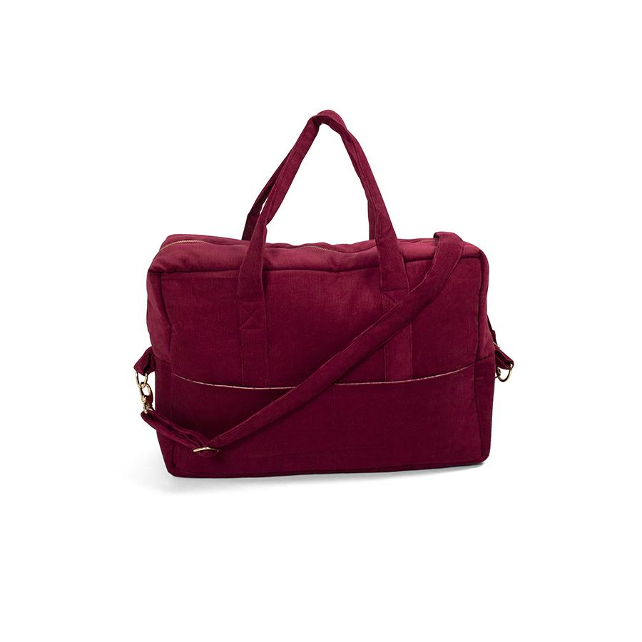 "Wickeltasche ""Mommy Bag Corduroy Deeply Red"""