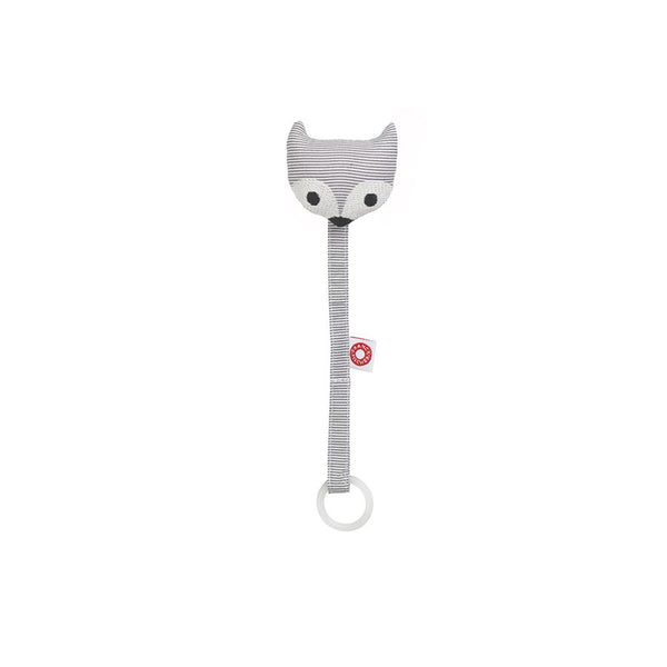 "Schnullerkette ""Ring Fox Grey"""