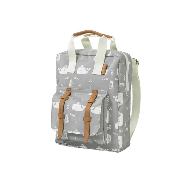 "Kinderrucksack ""Whale Dawn Grey"""