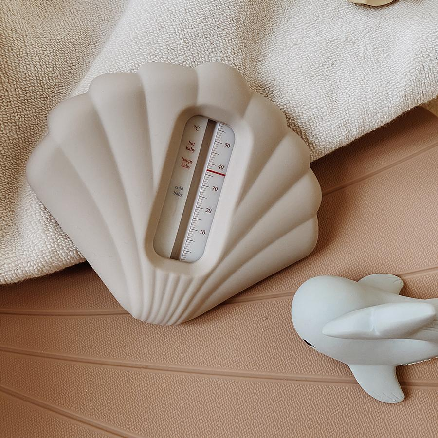 "Badethermometer ""Clam Warm Grey"""