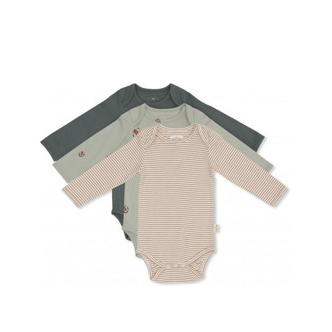 "Langarm-Body ""Deux Boy"" 3er Pack"