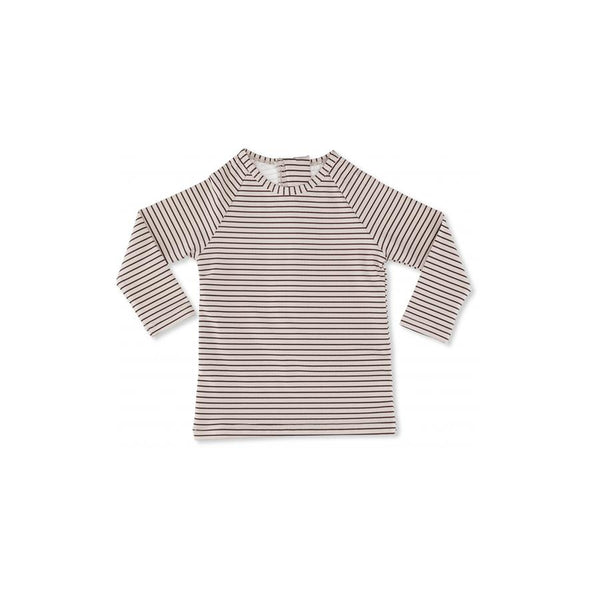 "UV-Badeshirt Boy ""Soleil Striped Bordeaux / Nature"""