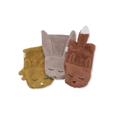 "Waschlappen ""Animals Girl"" 3er Pack"