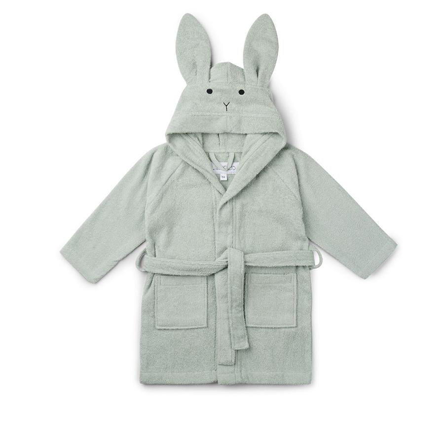 "Liewood Bademantel ""Lily Rabbit Dusty Mint"" - kyddo"