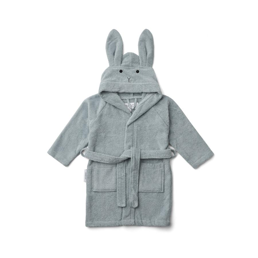 "Bademantel ""Lily Rabbit Sea Blue"""