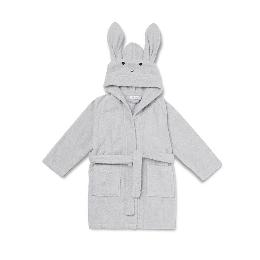 "Liewood Bademantel ""Lily Rabbit Solid Dumbo Grey"" - kyddo"