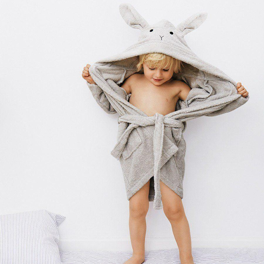 "Bademantel ""Lily Rabbit Solid Dumbo Grey"""