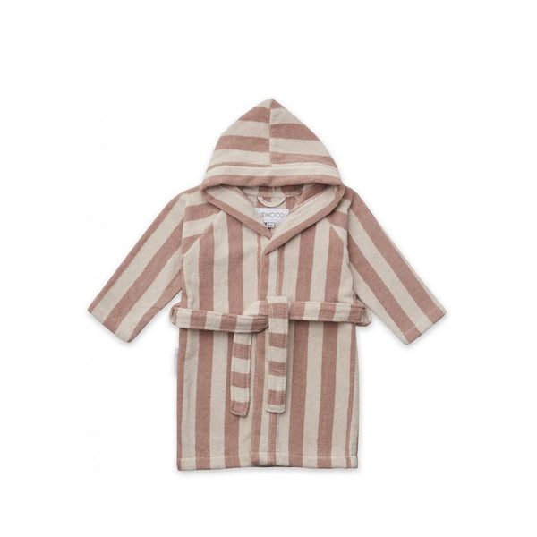 "Bademantel ""Reggie Stripe Rose / Sandy"""