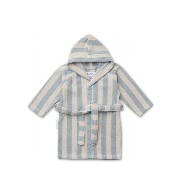 "Bademantel ""Reggie Stripe Sea Blue / Sandy"""
