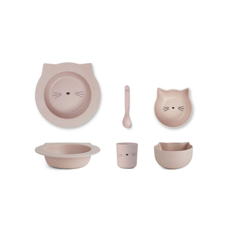 "Bambusgeschirr-Set ""Barbara Cat Rose"""