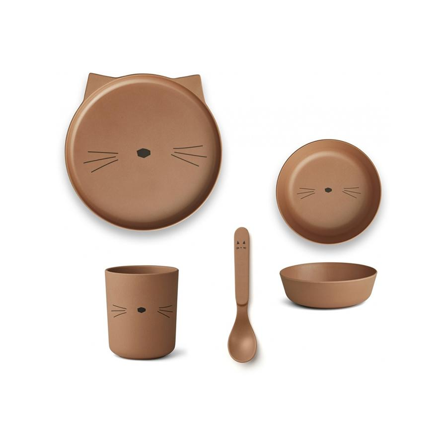 "Bambusgeschirr-Set ""Cat Terracotta"""