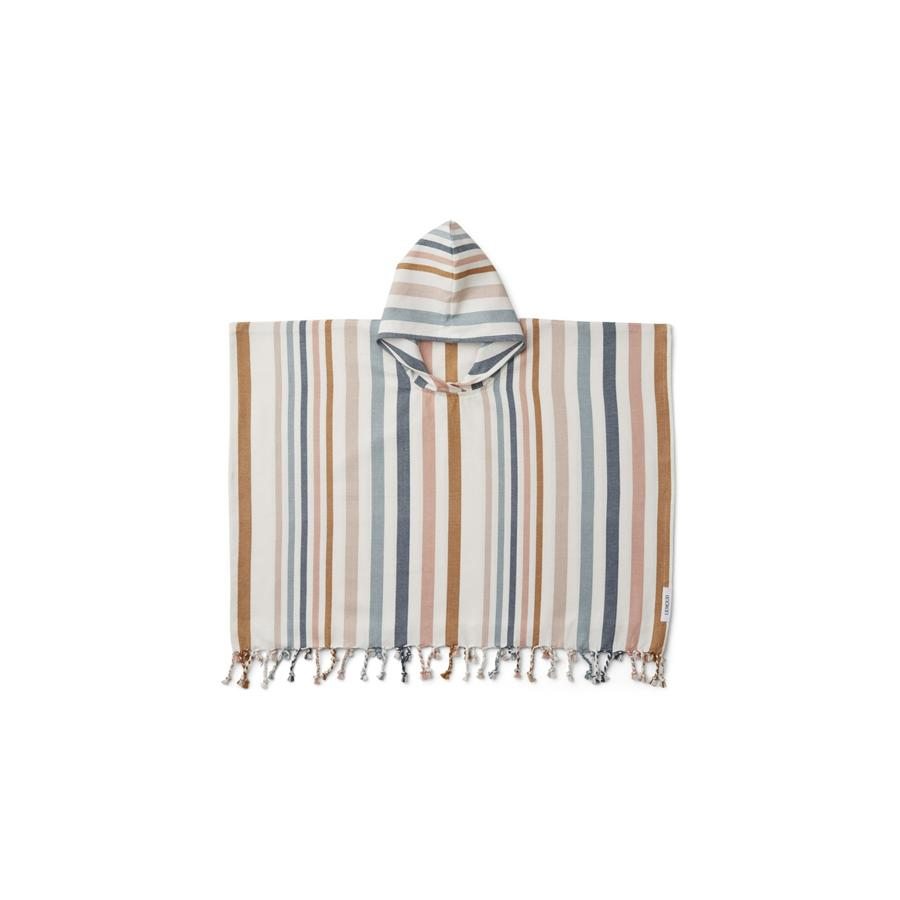 "Poncho ""Roomie Stripe Multi"""