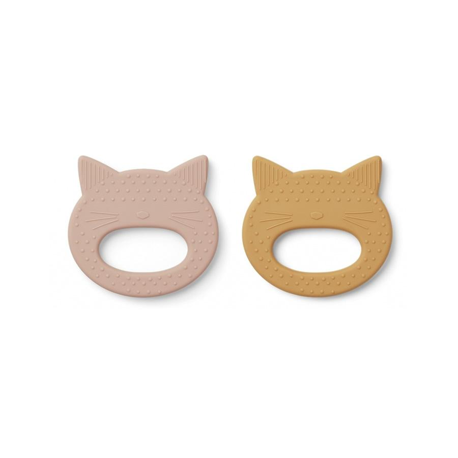 "Beißring ""Geo Cat Rose / Mellow Yellow"" 2er Pack"