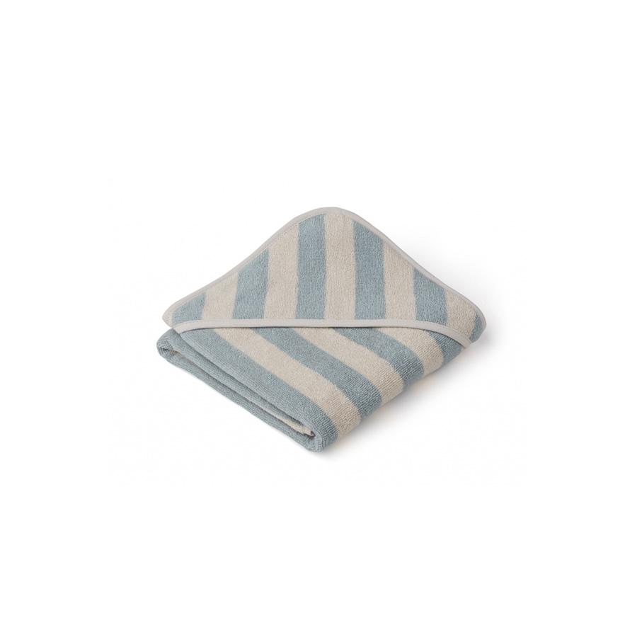 "Kapuzenhandtuch ""Alba Stripe Sea Blue / Sandy"""