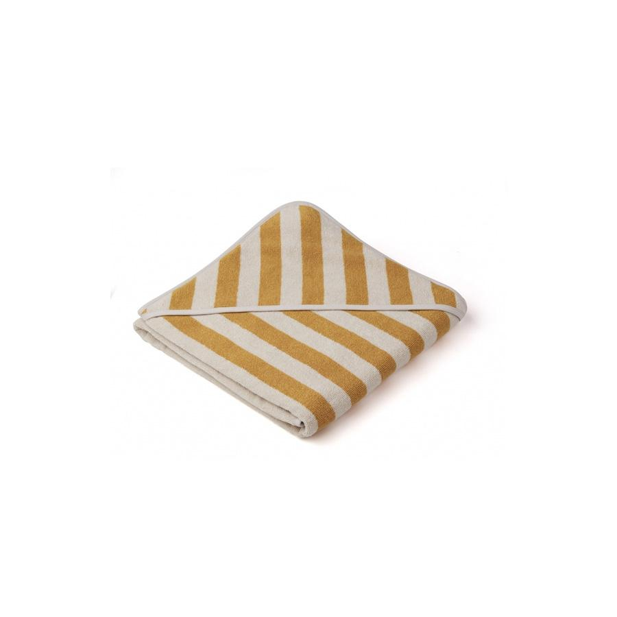 "Kapuzenhandtuch ""Louie Stripe Yellow Mellow / Sandy"""