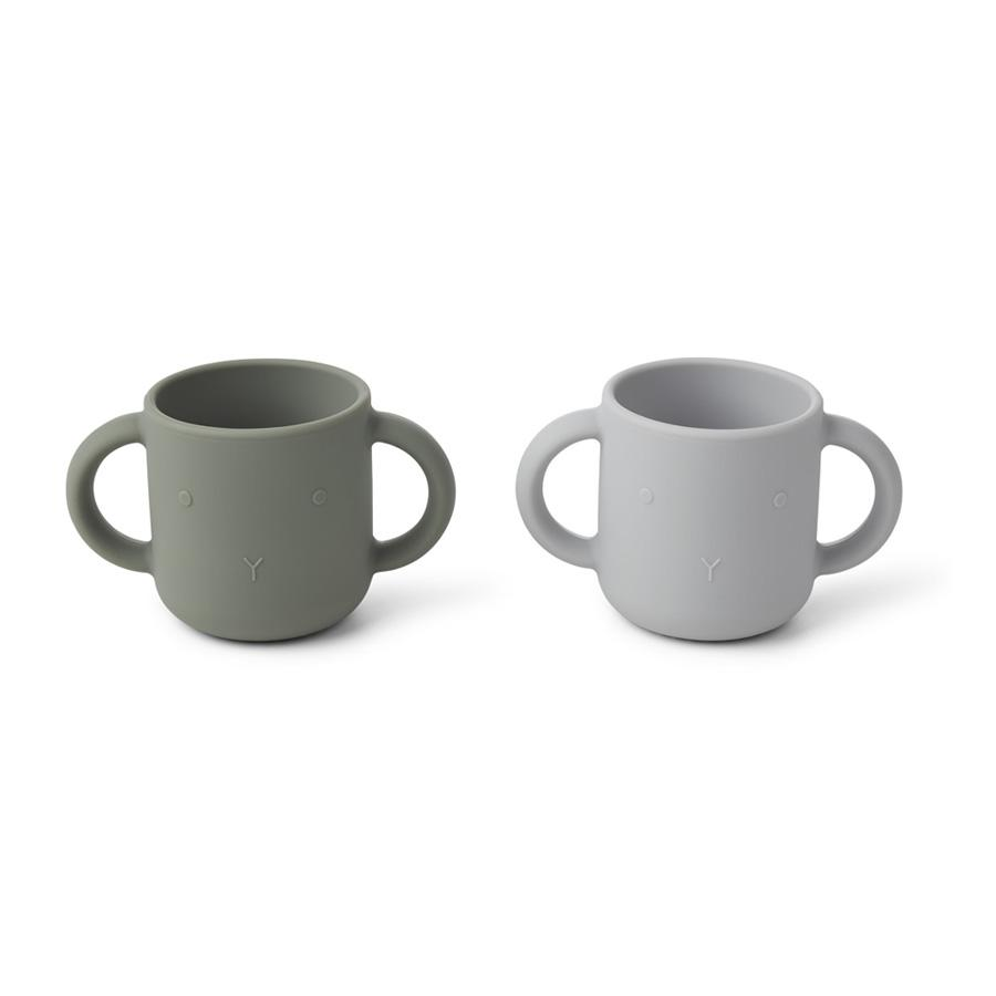"Kindertasse ""Gene Rabbit Faune Green / Dumbo Grey"" 2er Set"