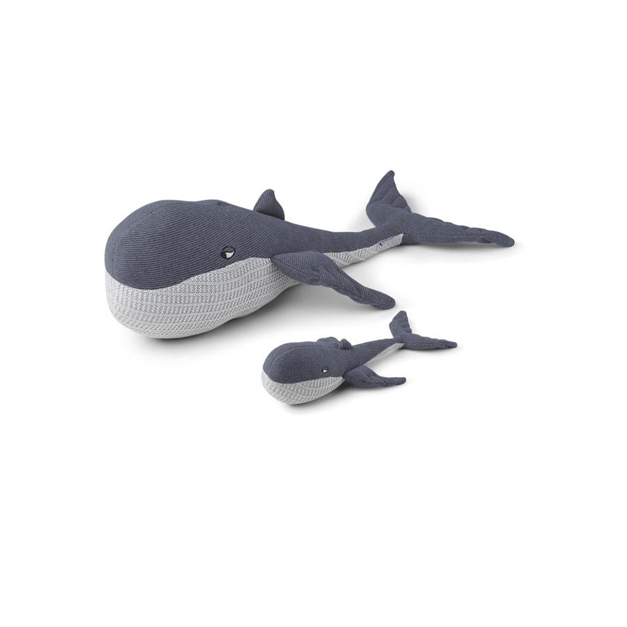 "Kuscheltier ""Doby Whale with Baby Blue Wave"""