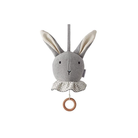 "Mobile ""Angela Rabbit Grey Melange"" mit Musik"