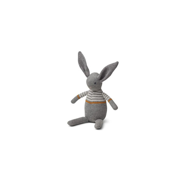 "Strickpuppe ""Vigga Mini Teddy Rabbit Grey Melange"""