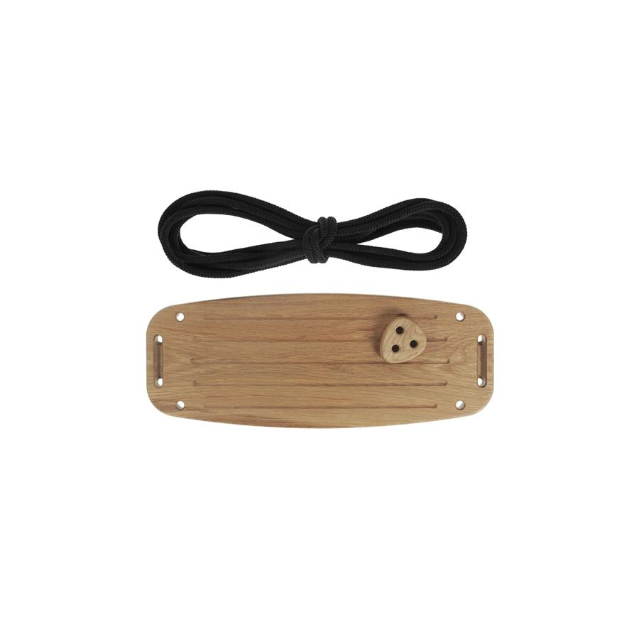 "Kinderschaukel ""Classic Oak Black Ropes"""