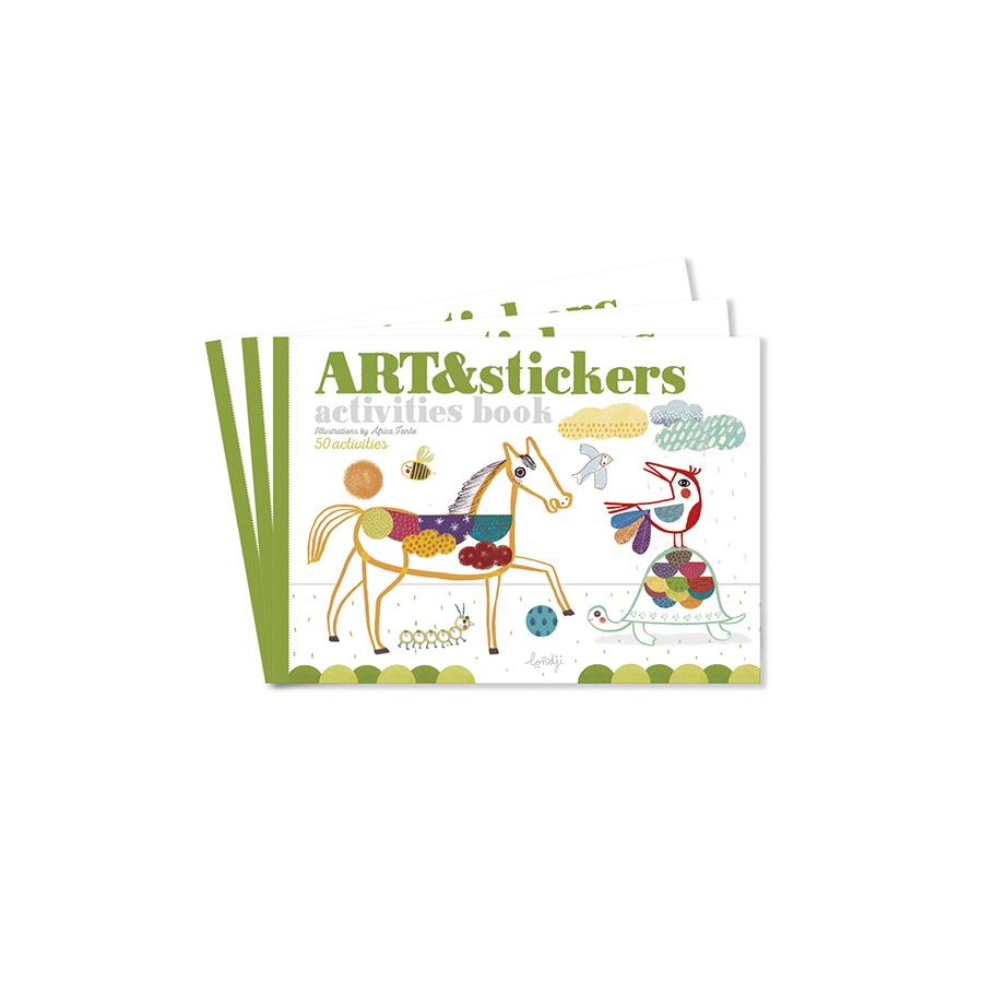 "Malbuch ""Art & Stickers"""