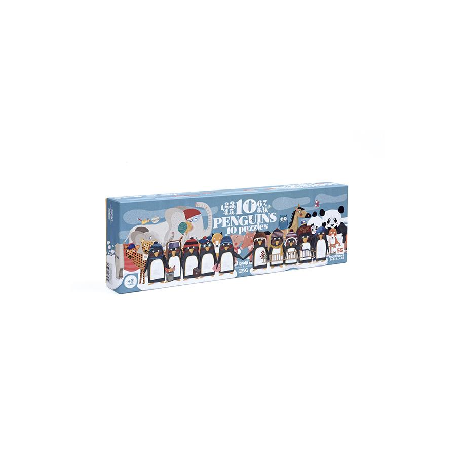 "Puzzle ""10 Penguins"""