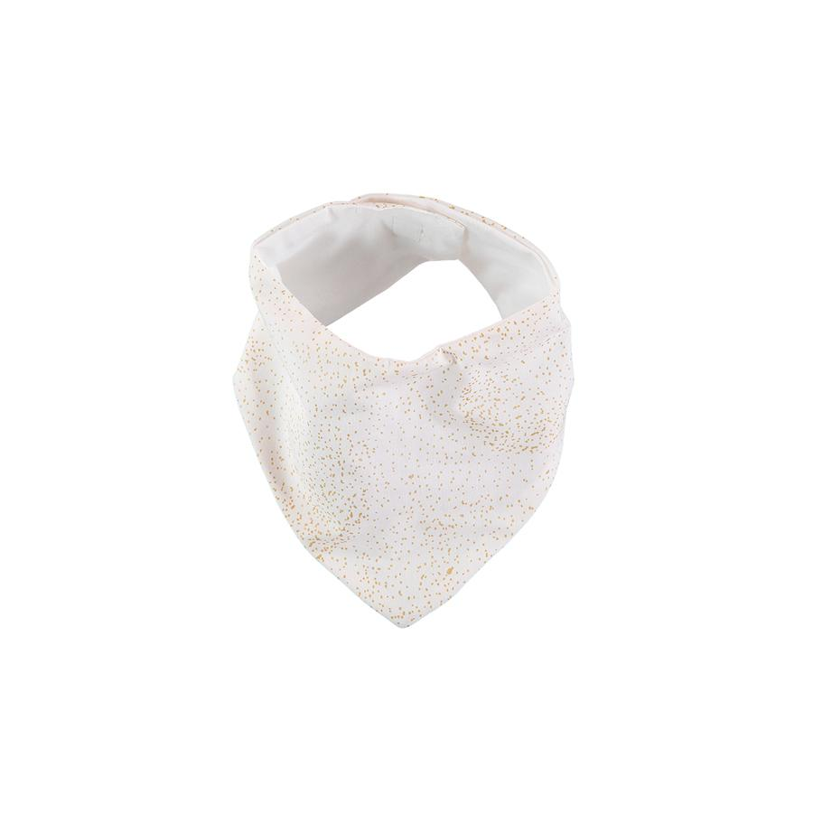 "Bandana-Lätzchen ""Lucky Gold Bubble / White"""