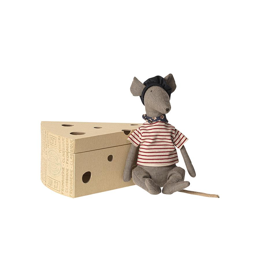 "Kuscheltier ""Rat in Cheese Box Grey"""