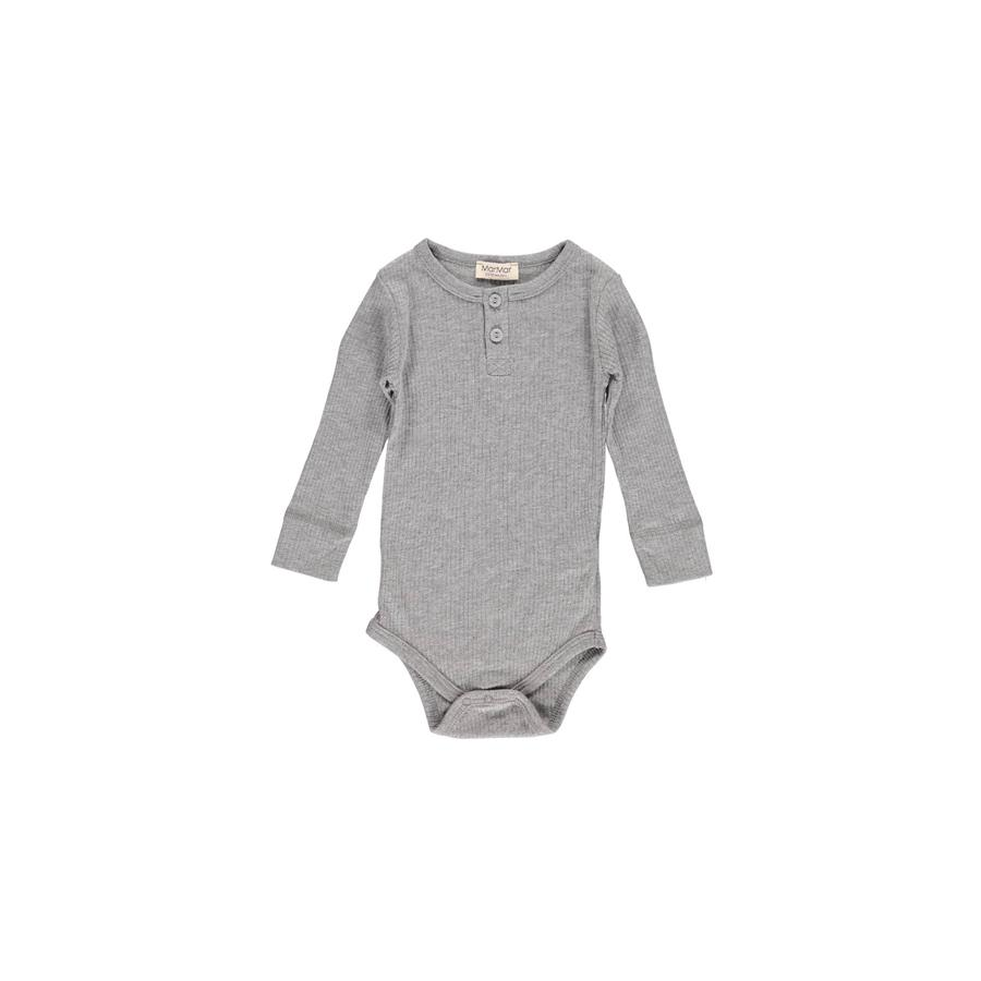"Langarm-Body ""Grey Melange"""