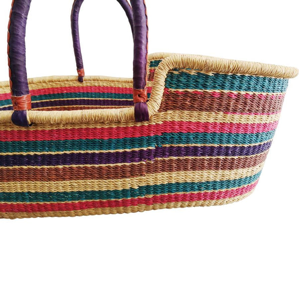 "Moses-Korb ""Baby Moses Basket Purple, Blue and Pink Striped"""