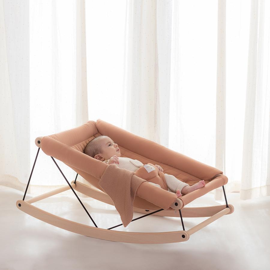 "Babywippe ""Growing Green Baby Bouncer Sienna Brown"""