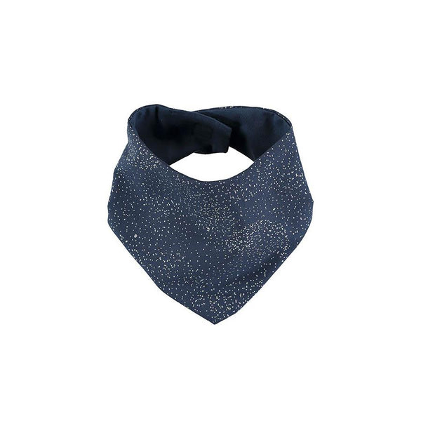 "Nobodinoz Bandana-Lätzchen ""Lucky Gold Bubble Night Blue"" - kyddo"