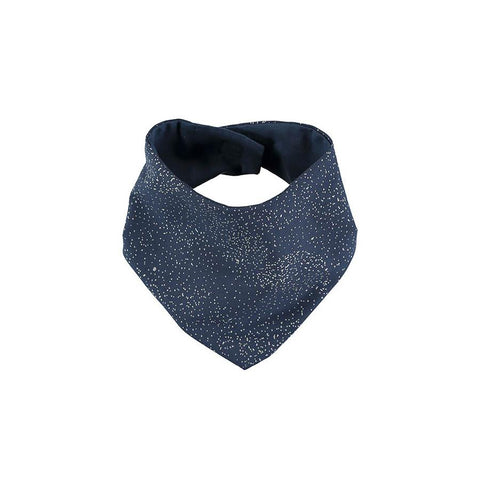 "Bandana-Lätzchen ""Lucky Gold Bubble Night Blue"""