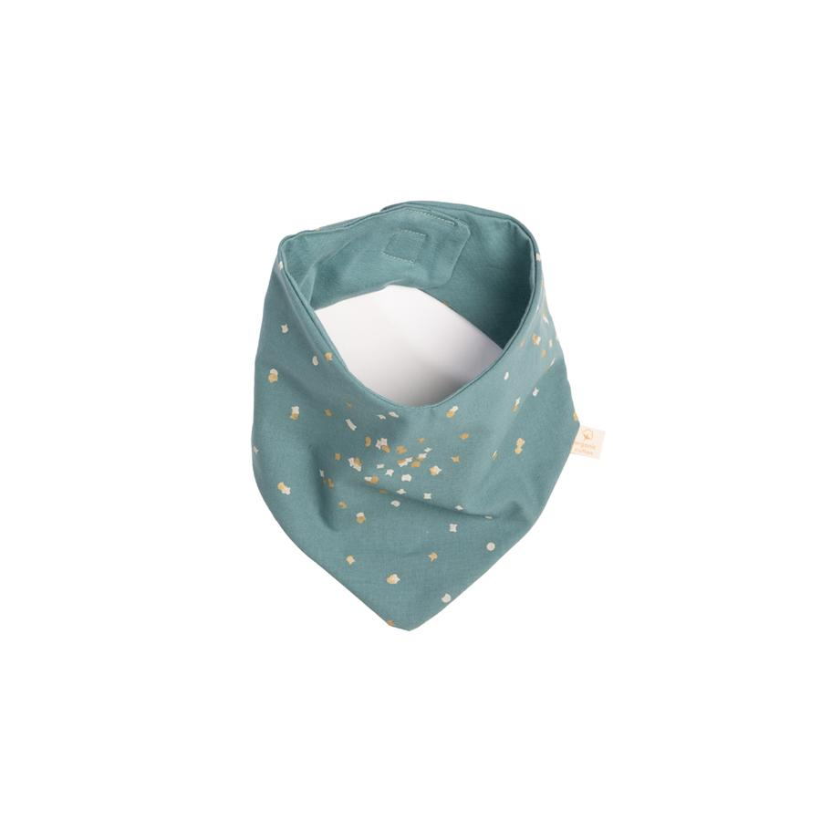 "Bandana-Lätzchen ""Lucky Gold Confetti / Magic Green"""