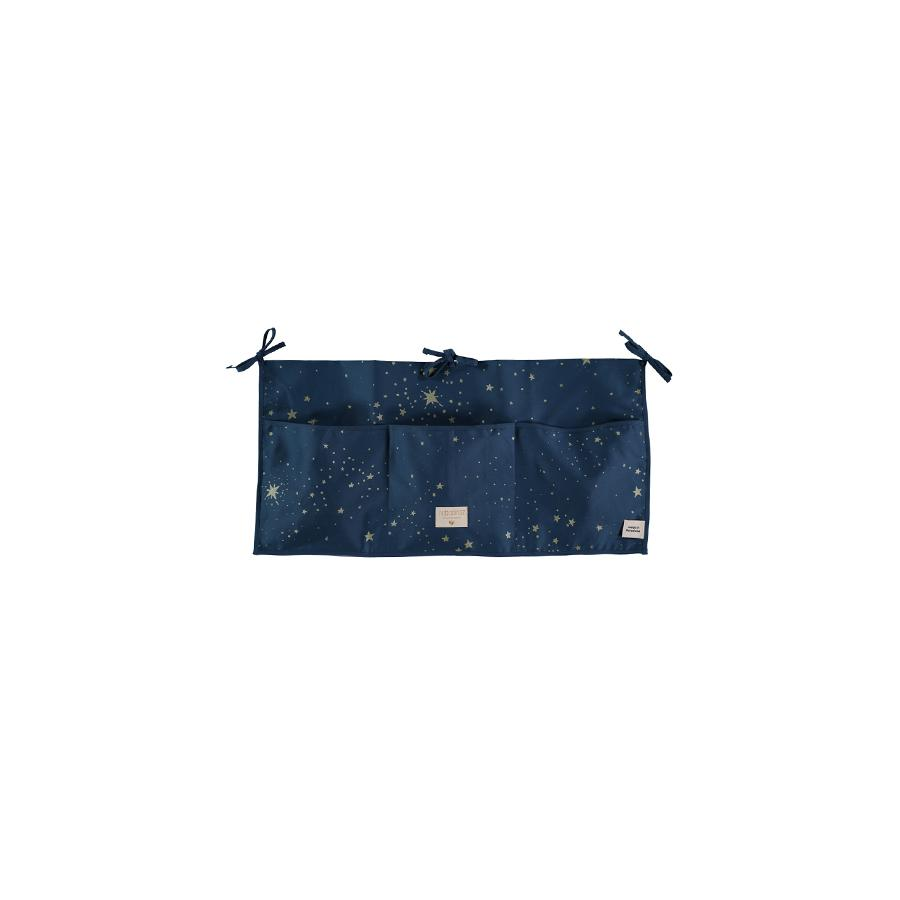 "Betttasche ""Merlin Gold Stella / Night Blue"""
