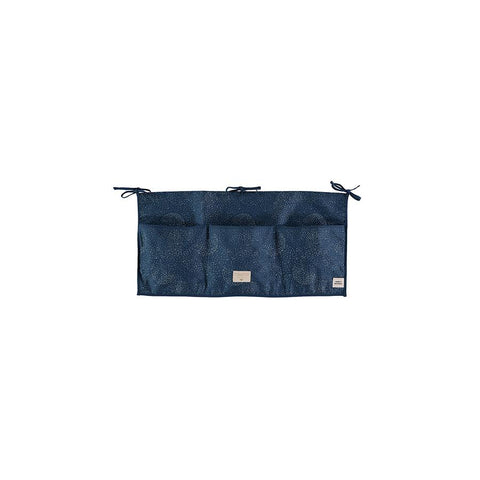 "Betttasche ""Merlin Gold Bubble / Night Blue"""