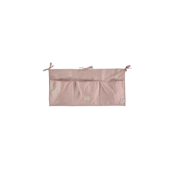 "Nobodinoz Betttasche ""Merlin White Bubble / Misty Pink"" - kyddo"