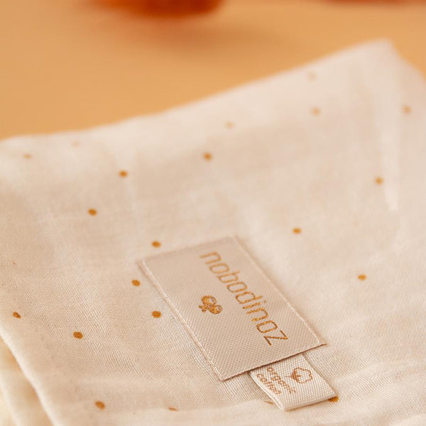 "Mulltuch Swaddle ""Butterfly Honey Sweet Dots / Natural"""