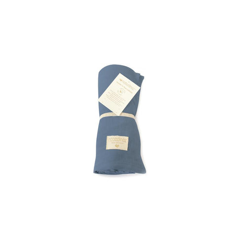 "Mulltuch Swaddle ""Butterfly Night Blue"""