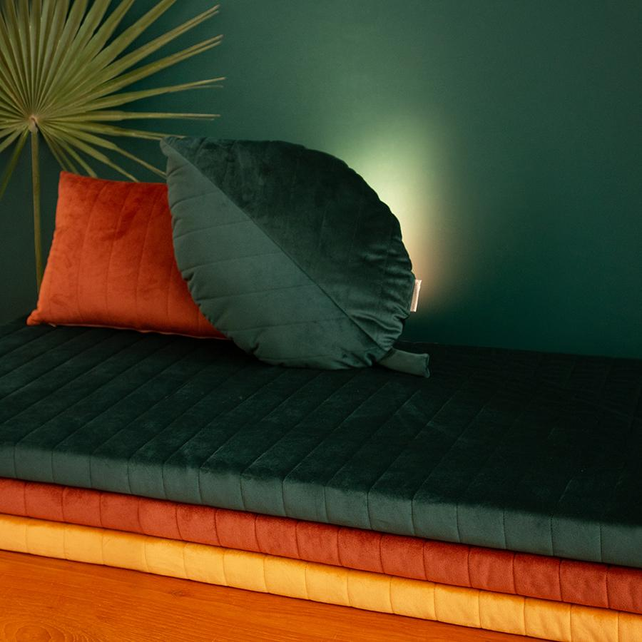 "Kissen ""Savanna Velvet Palma Jungle Green"""