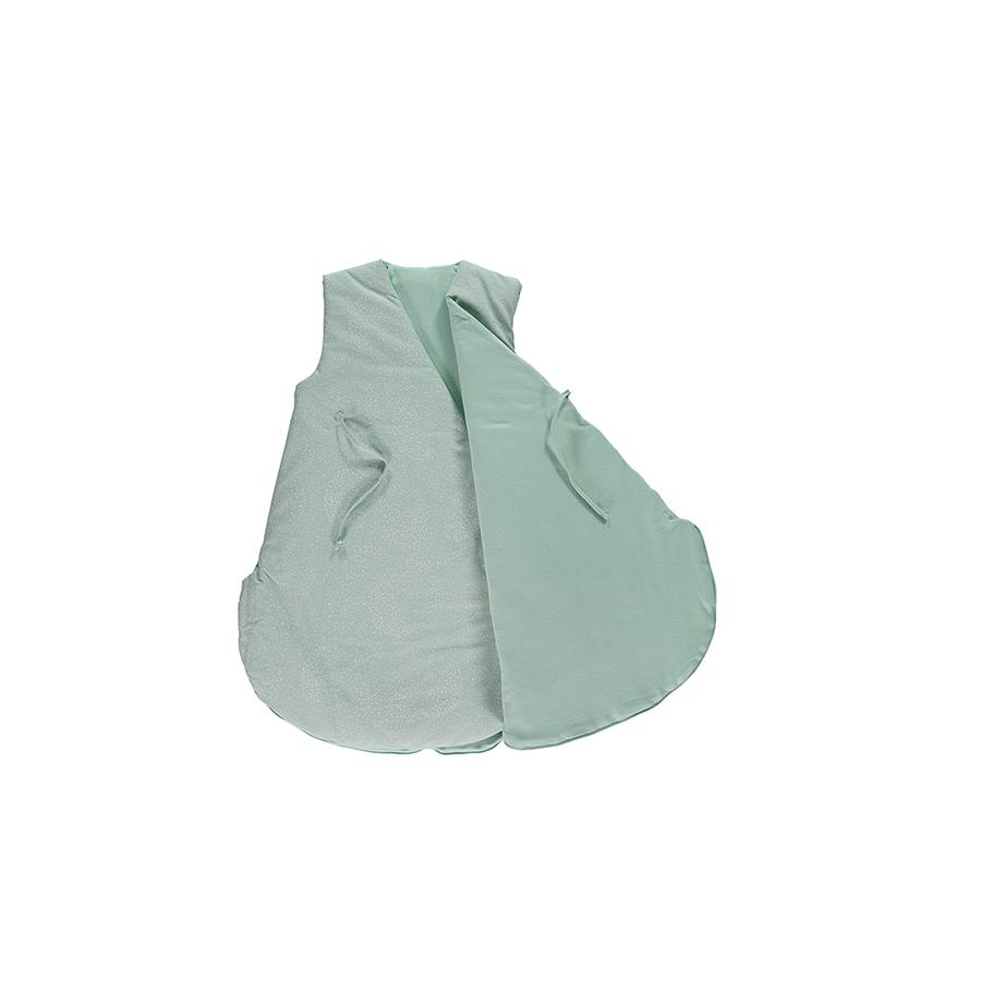 "Babyschlafsack ""Cloud White Bubble / Aqua"""