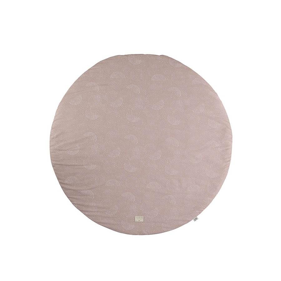 "Nobodinoz Spielmatte ""Full Moon White Bubble Misty Pink"" - kyddo"