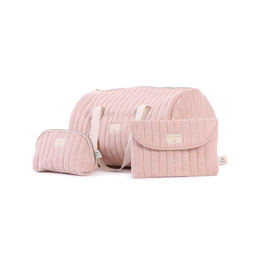 "Weekend-Tasche ""New York White Bubble / Misty Pink"""