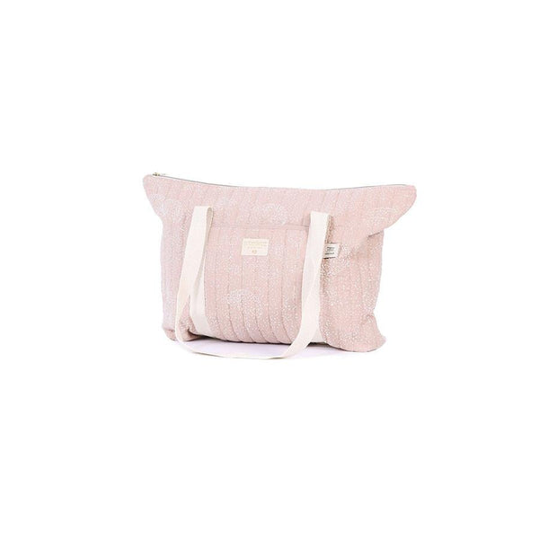 "Wickeltasche ""Paris White Bubble Misty Pink"""