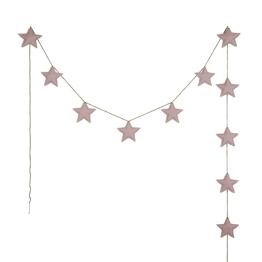 "Girlande ""Mini Star Dusty Pink"""