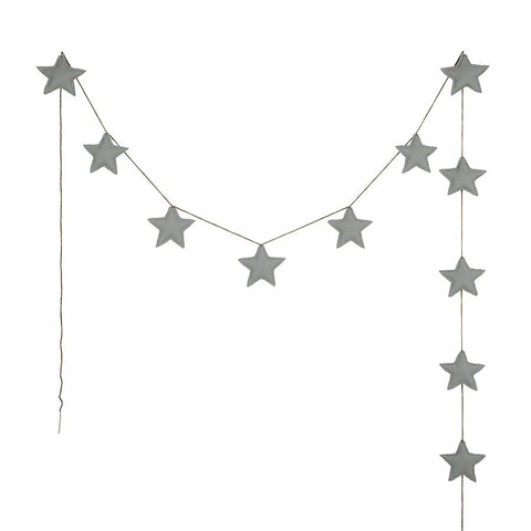 "Girlande ""Mini Star Silver Grey"""