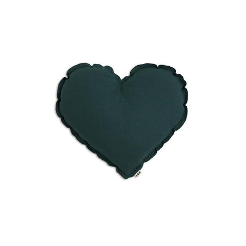 "Kissen ""Heart Teal Blue"""