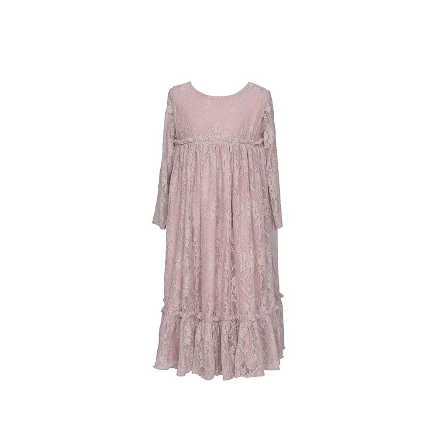 "Langarm-Kleid ""Carolina Dusty Pink"""